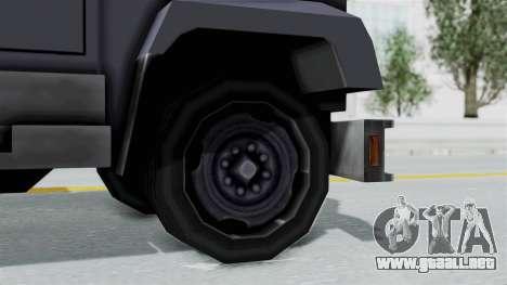 Indonesian Police BRIMOB Enforcer para GTA San Andreas vista posterior izquierda