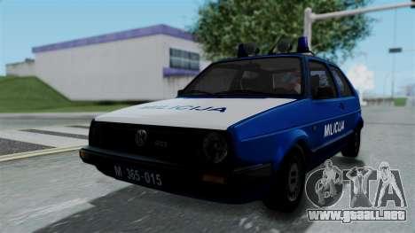Volkswagen Golf Mk2 Milicija para GTA San Andreas