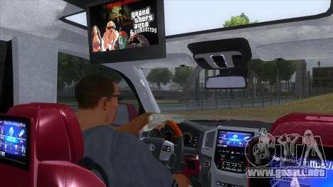 2016 Toyota Land Cruiser 200 V2 para visión interna GTA San Andreas