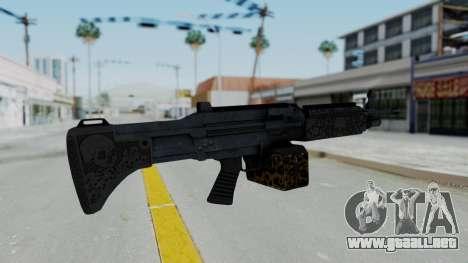 GTA 5 Online Lowriders DLC Combat MG para GTA San Andreas segunda pantalla