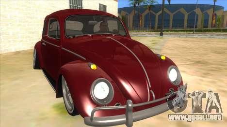 Volkswagen Beetle Aircooled V2 para GTA San Andreas vista hacia atrás