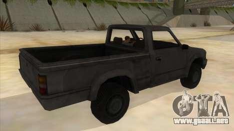 Toyota Hilux Militia para la visión correcta GTA San Andreas