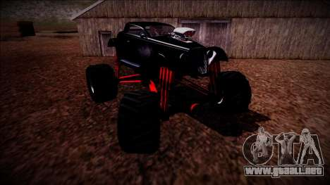 GTA 5 Hotknife Monster Truck para vista inferior GTA San Andreas