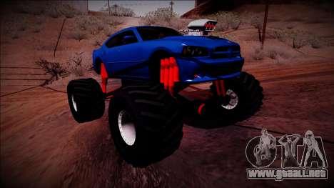 2006 Dodge Charger SRT8 Monster Truck para la visión correcta GTA San Andreas