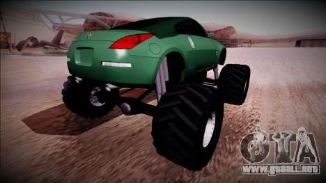 Nissan 350Z Monster Truck para GTA San Andreas left