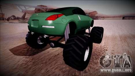 Nissan 350Z Monster Truck para GTA San Andreas left