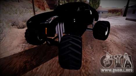 Nissan 350Z Monster Truck para la vista superior GTA San Andreas