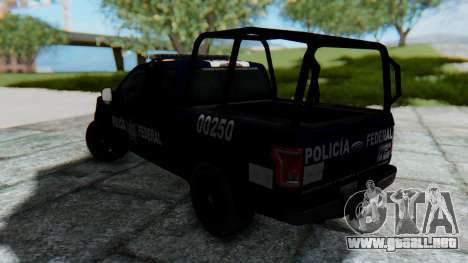 Ford F-150 2015 Policia Federal para GTA San Andreas left