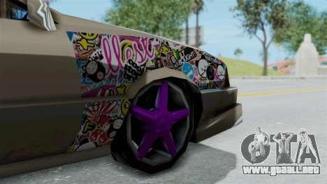 Cadrona Cabrio JDM para GTA San Andreas vista posterior izquierda