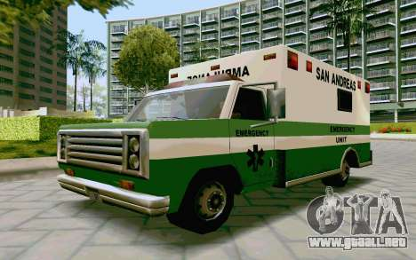 Journey Ambulance para GTA San Andreas vista posterior izquierda