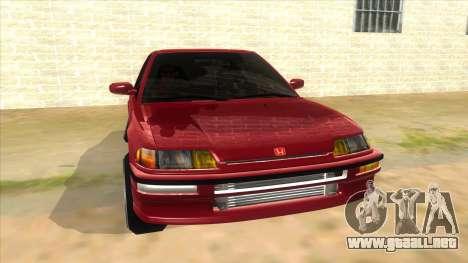 Honda Civic Ef Sedan para GTA San Andreas vista hacia atrás