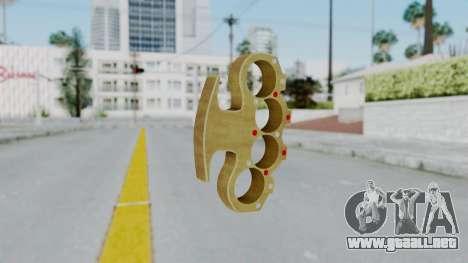 The Pimp Knuckle Dusters from Ill GG Part 2 para GTA San Andreas segunda pantalla