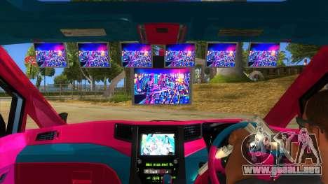 Toyota Vellfire Miku Pocky Exhaust v2 FIX para visión interna GTA San Andreas