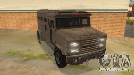 GTA 5 Brute Riot Police para GTA San Andreas vista hacia atrás