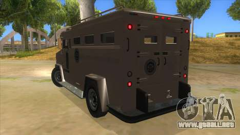 GTA 5 Brute Riot Police para GTA San Andreas vista posterior izquierda