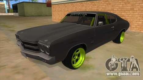 1970 Chevrolet Chevelle SS Drift Monster Energy para GTA San Andreas