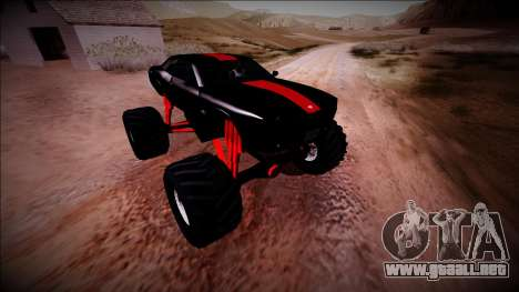 GTA 5 Bravado Gauntlet Monster Truck para vista inferior GTA San Andreas