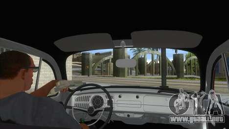 Volkswagen Beetle Aircooled V2 para visión interna GTA San Andreas