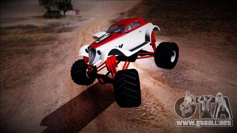 GTA 5 Hotknife Monster Truck para GTA San Andreas left