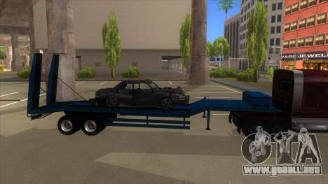 Trailer with Hydaulic Ramps para GTA San Andreas vista posterior izquierda