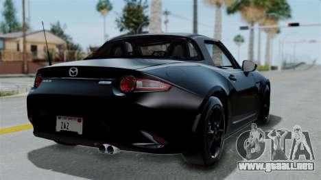 Mazda MX-5 Miata 2016 para GTA San Andreas left