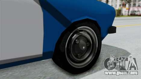 Dacia 1300 Police para GTA San Andreas vista posterior izquierda