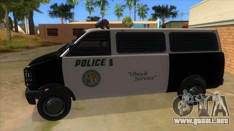 GTA 5 Burrito Transport para GTA San Andreas left