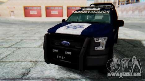 Ford F-150 2015 Policia Federal para la visión correcta GTA San Andreas