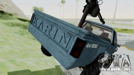 GTA 5 Karin Technical Machinegun IVF para vista lateral GTA San Andreas