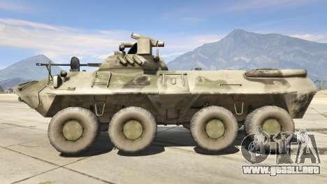 GTA 5 BTR-90 Rostok vista lateral izquierda