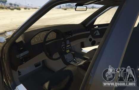 GTA 5 Mercedes-Benz S600 (W140) [Replace] v1.1 vista trasera