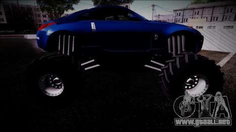 Nissan 350Z Monster Truck para la visión correcta GTA San Andreas