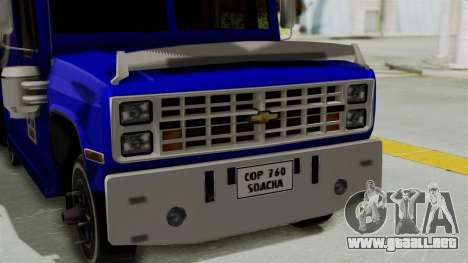 Chevrolet C30 Furgon Stylo Colombia para la visión correcta GTA San Andreas