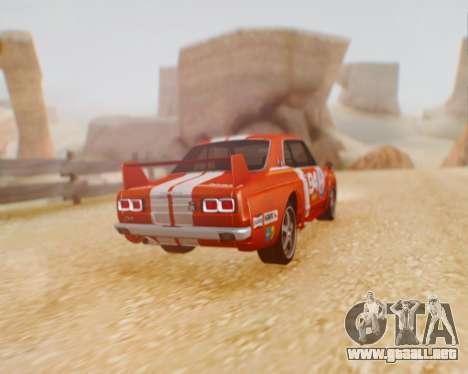 Nissan 2000GT-R [C10] Tunable para GTA San Andreas vista posterior izquierda