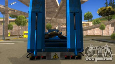 Trailer with Hydaulic Ramps para visión interna GTA San Andreas