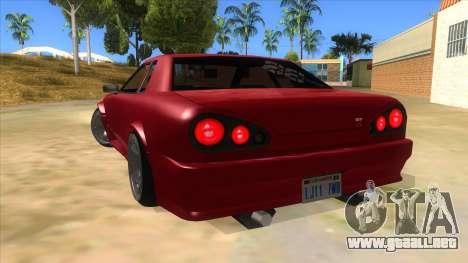 GTR Elegy para GTA San Andreas vista posterior izquierda