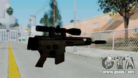 SCAR-20 v2 Folded para GTA San Andreas segunda pantalla