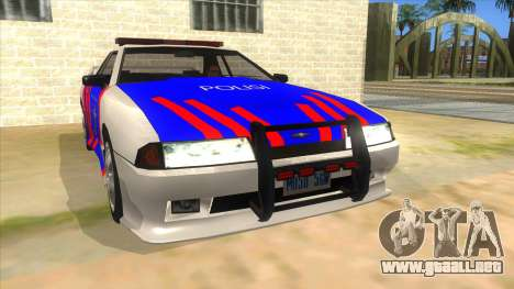 Elegy NR32 Police Edition White Highway para GTA San Andreas vista hacia atrás