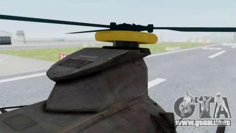 MH-47 Umbrella U.S.S para la visión correcta GTA San Andreas