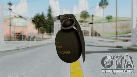 GTA 5 Grenade para GTA San Andreas segunda pantalla