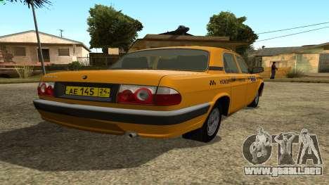 GAZ 31105 Volga Taxi FIV para GTA San Andreas vista posterior izquierda