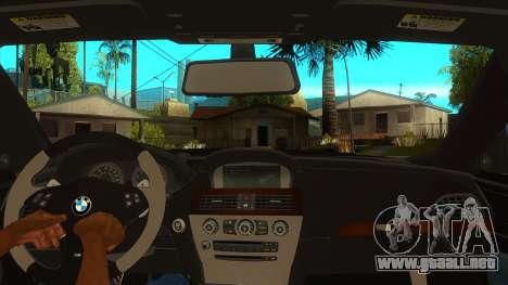 BMW M6 Full Tuning para visión interna GTA San Andreas