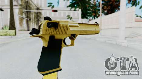 Pouxs Desert Eagle v2 Gold para GTA San Andreas tercera pantalla