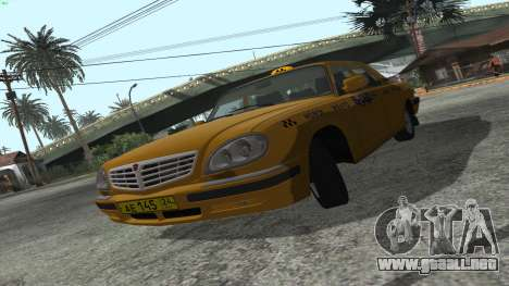 GAZ 31105 Volga Taxi FIV para GTA San Andreas left