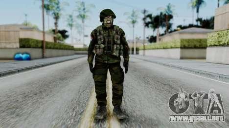 SAJ Maskirna para GTA San Andreas segunda pantalla