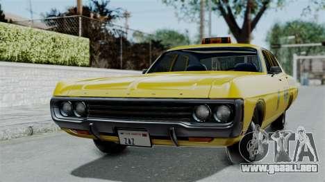 Dodge Polara 1971 Kaufman Cab para GTA San Andreas