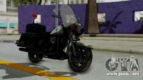 Police Bike from RE ORC para la visión correcta GTA San Andreas