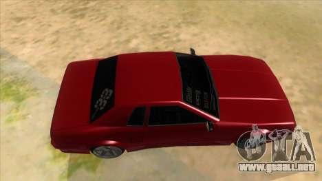 GTR Elegy para visión interna GTA San Andreas