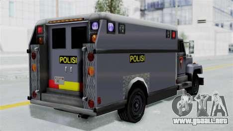 Indonesian Police BRIMOB Enforcer para GTA San Andreas left