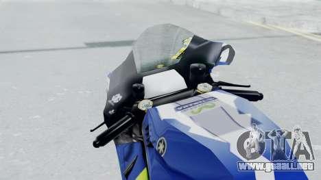 Yamaha YZR M1 2016 para GTA San Andreas vista hacia atrás